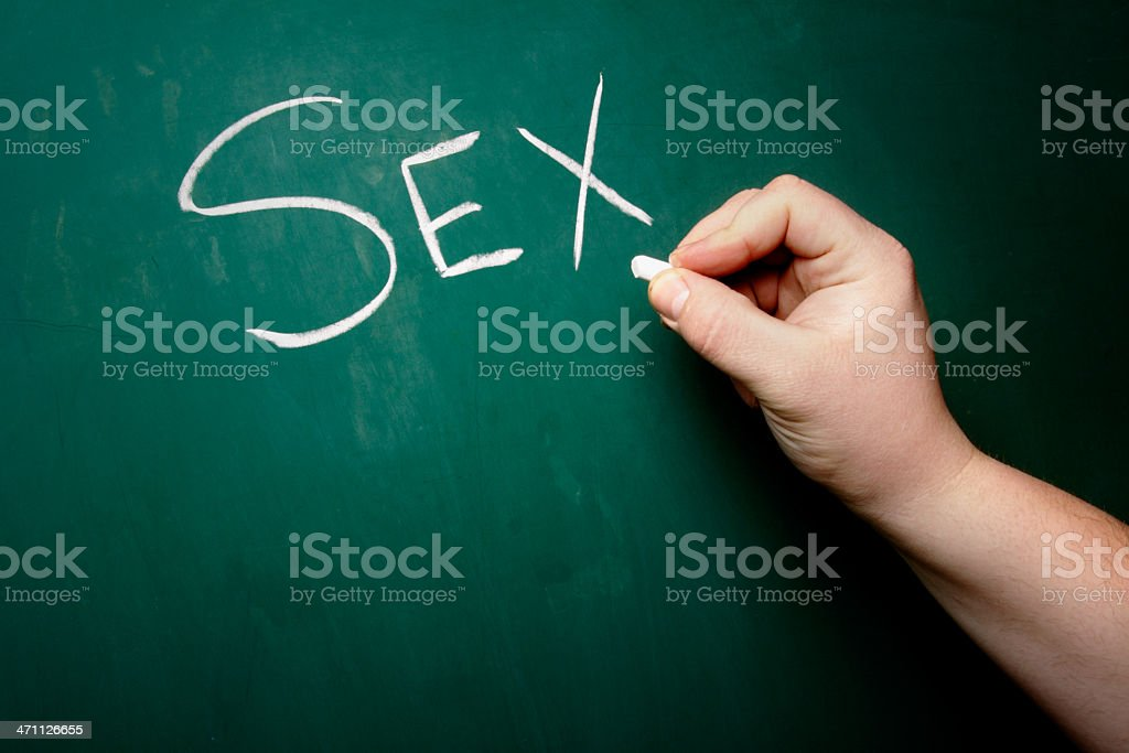 Chalkboard - Sex stock photo