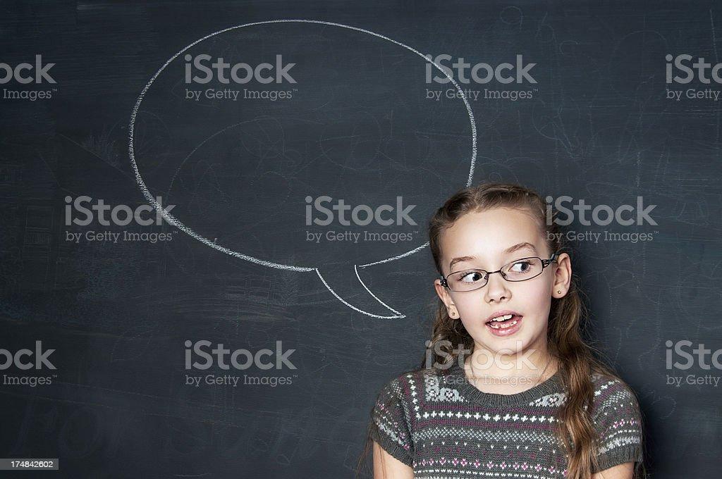Chalkboard, Speech Bubble royalty-free stock photo