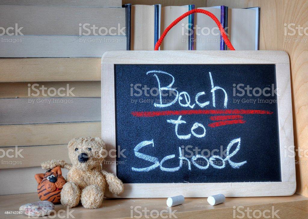 Chalkboard. Syntax error. stock photo