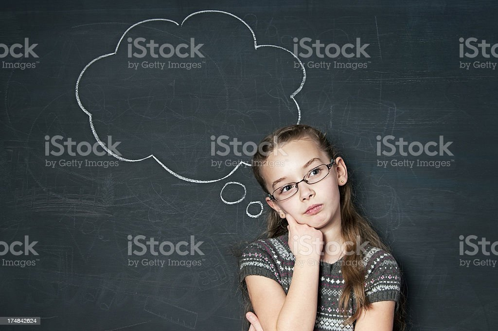 Chalkboard, Thought Bubble royalty-free stock photo