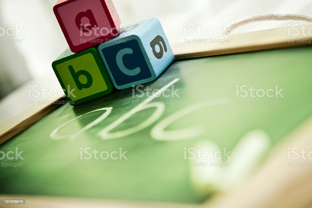 Chalkboard with abc royalty-free stock photo
