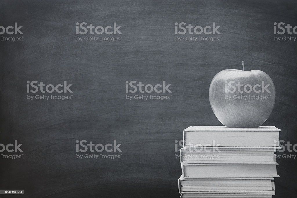 Chalkboard with  Chalk Drawing royalty-free stock photo