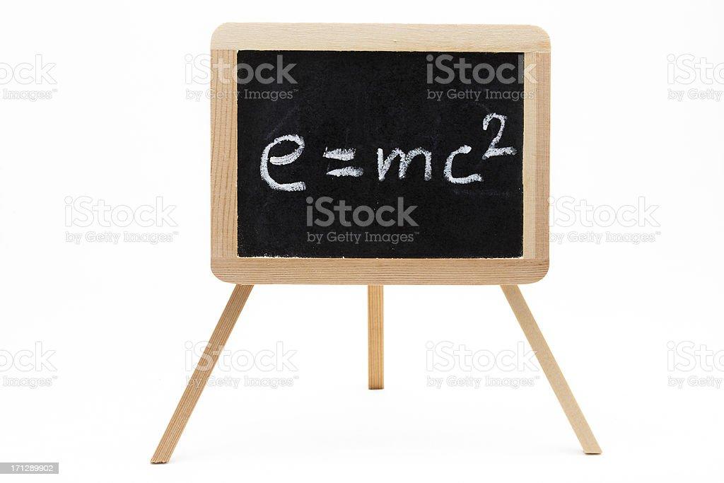 Chalkboard with Einstein formula royalty-free stock photo
