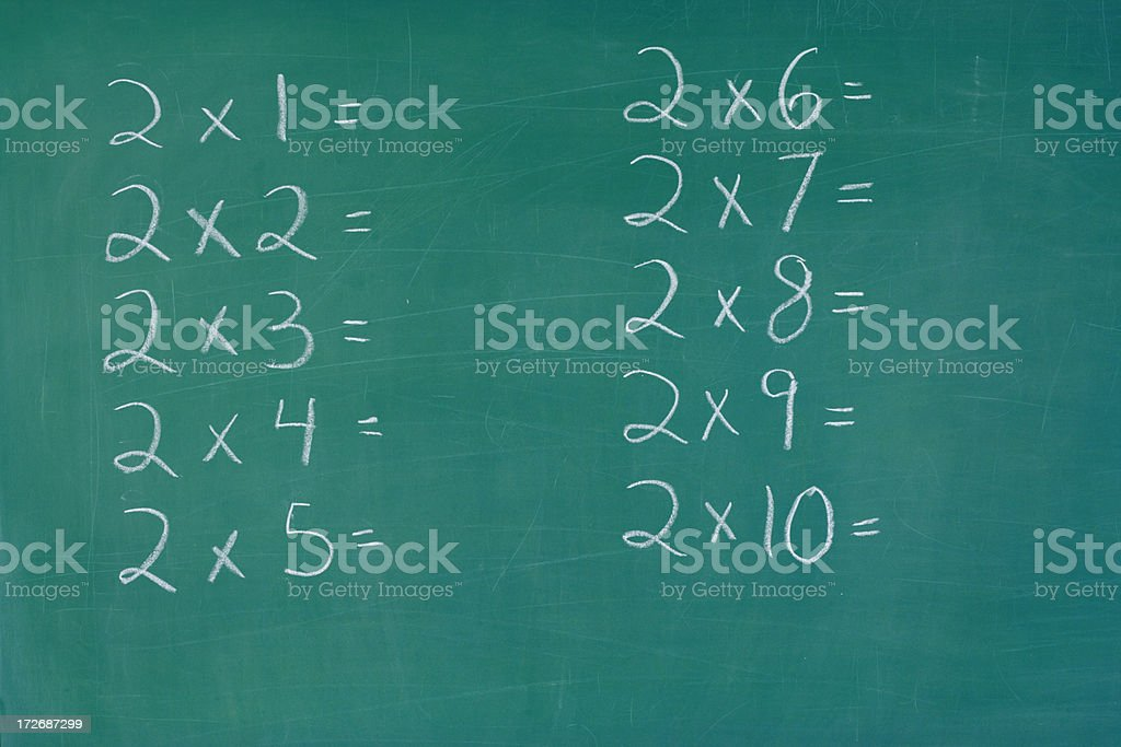 Chalkboard with Math Problems royalty-free stock photo
