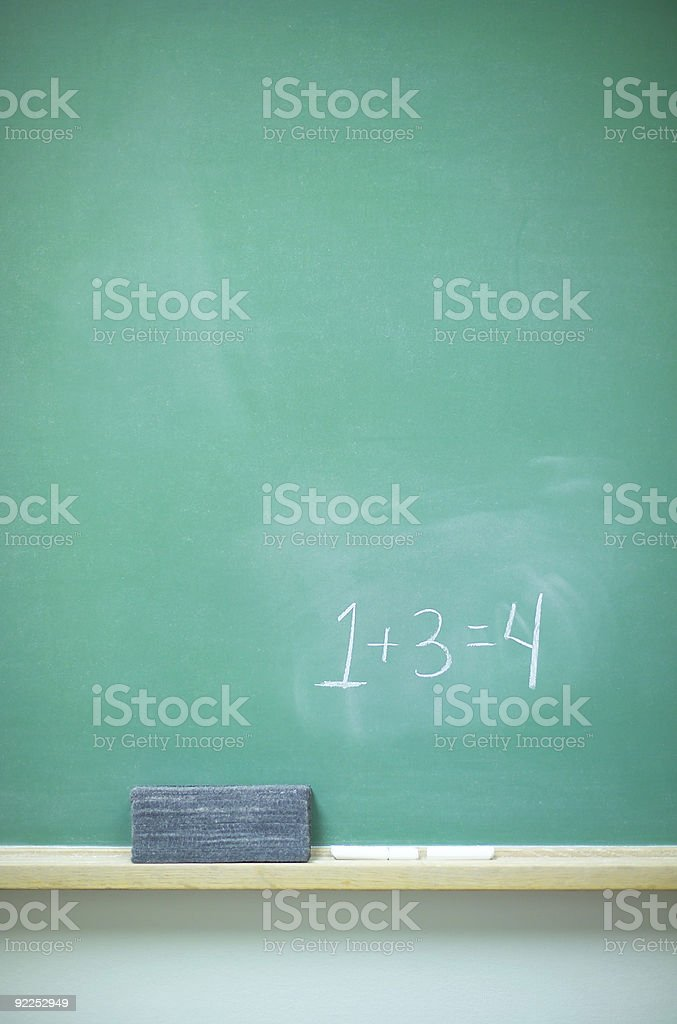 Chalkboard with numbers royalty-free stock photo