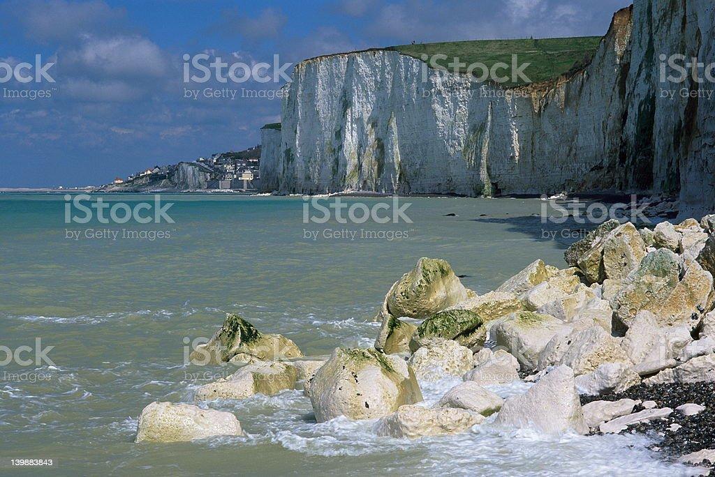 Chalk-cliffs stock photo
