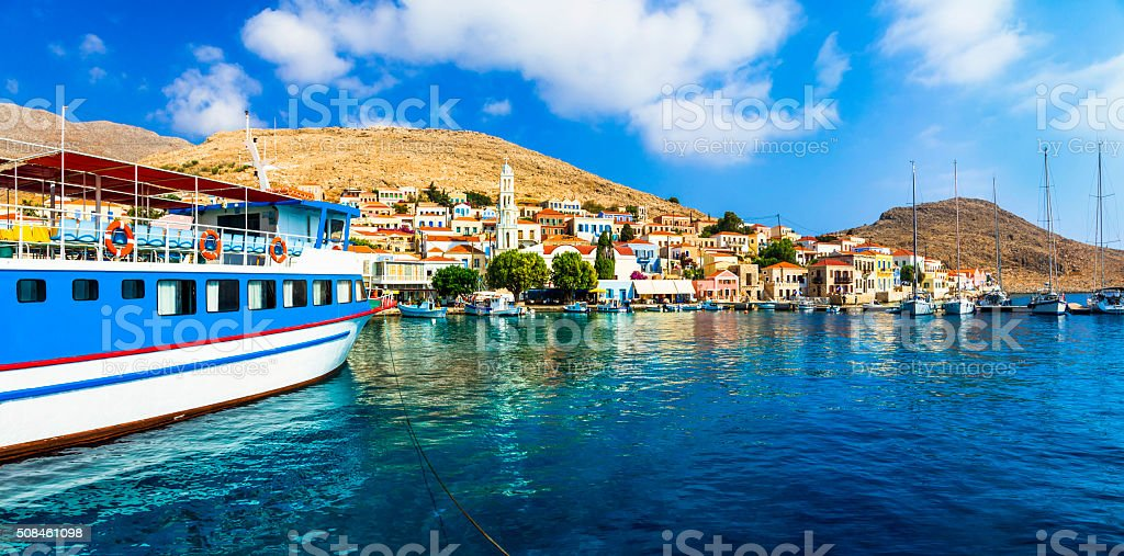 Chalki Island,Dodecanese,Greece. stock photo