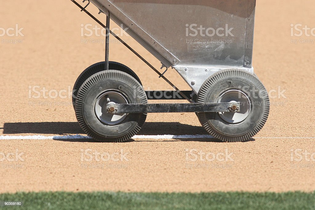 Chalking the field royalty-free stock photo