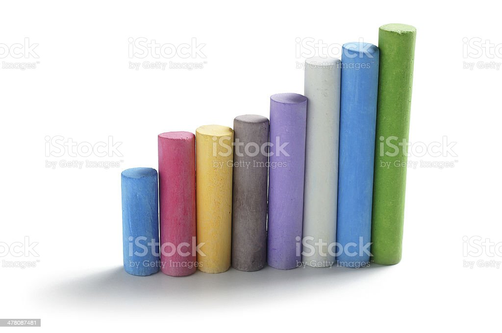 Chalks in Line royalty-free stock photo