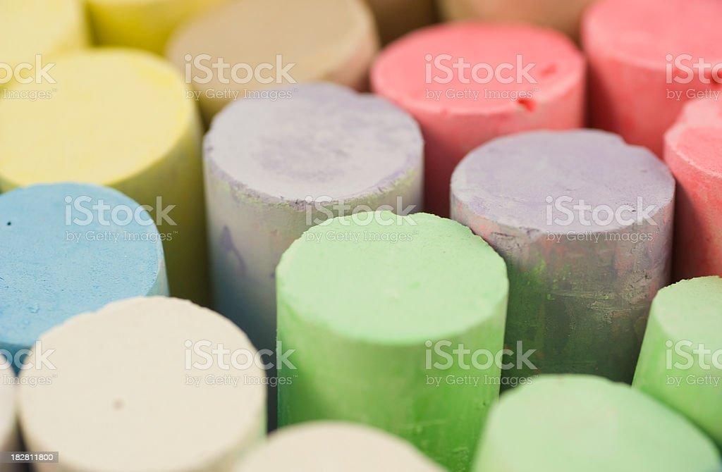 chalks macro background royalty-free stock photo