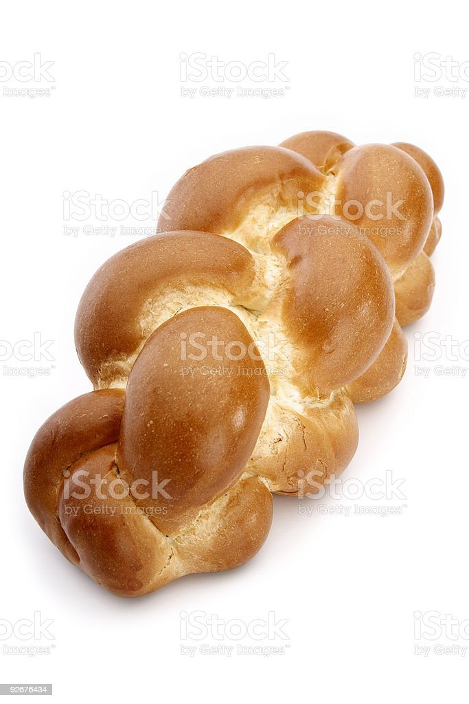 Challah bread isolated on white background royalty-free stock photo