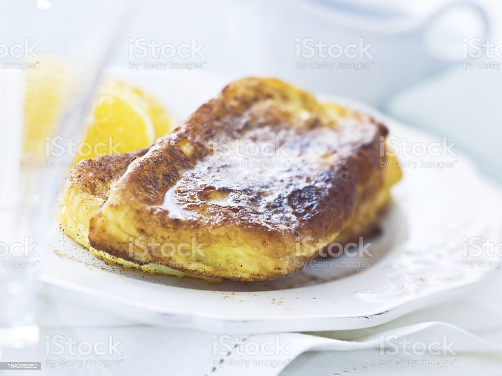 Challah French Toast stock photo