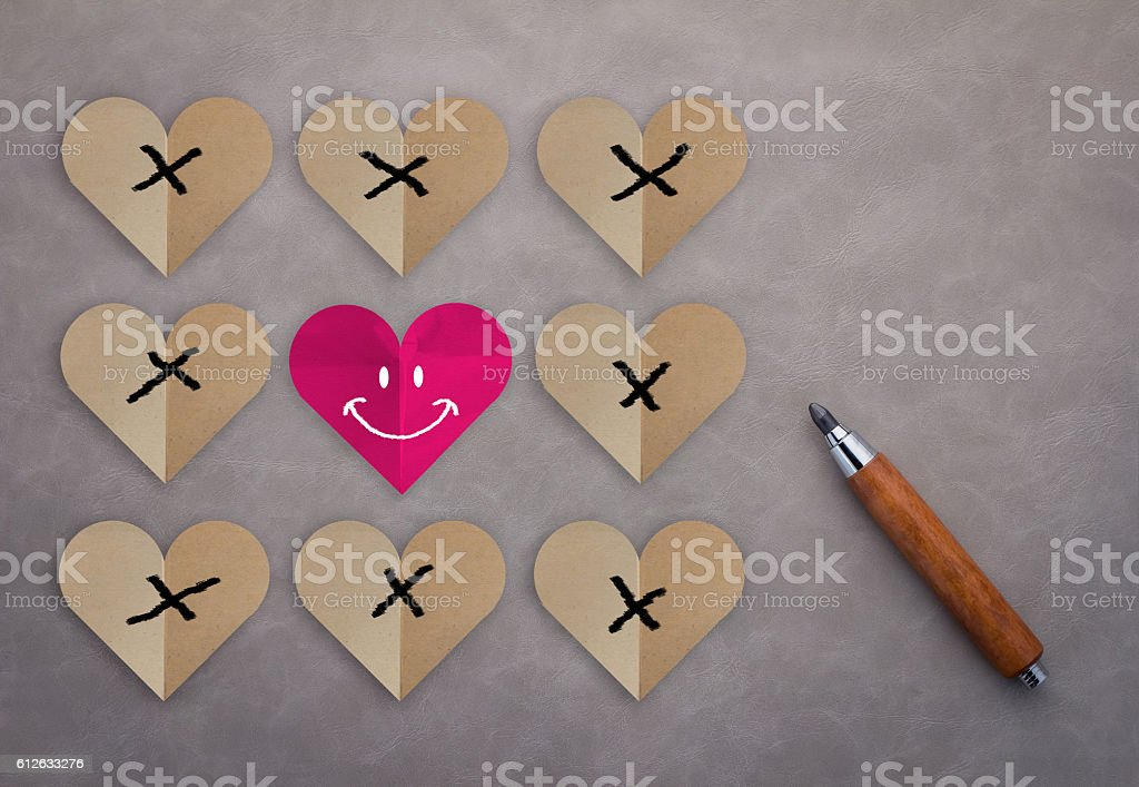 Challenge and Love Always Wins Concept stock photo