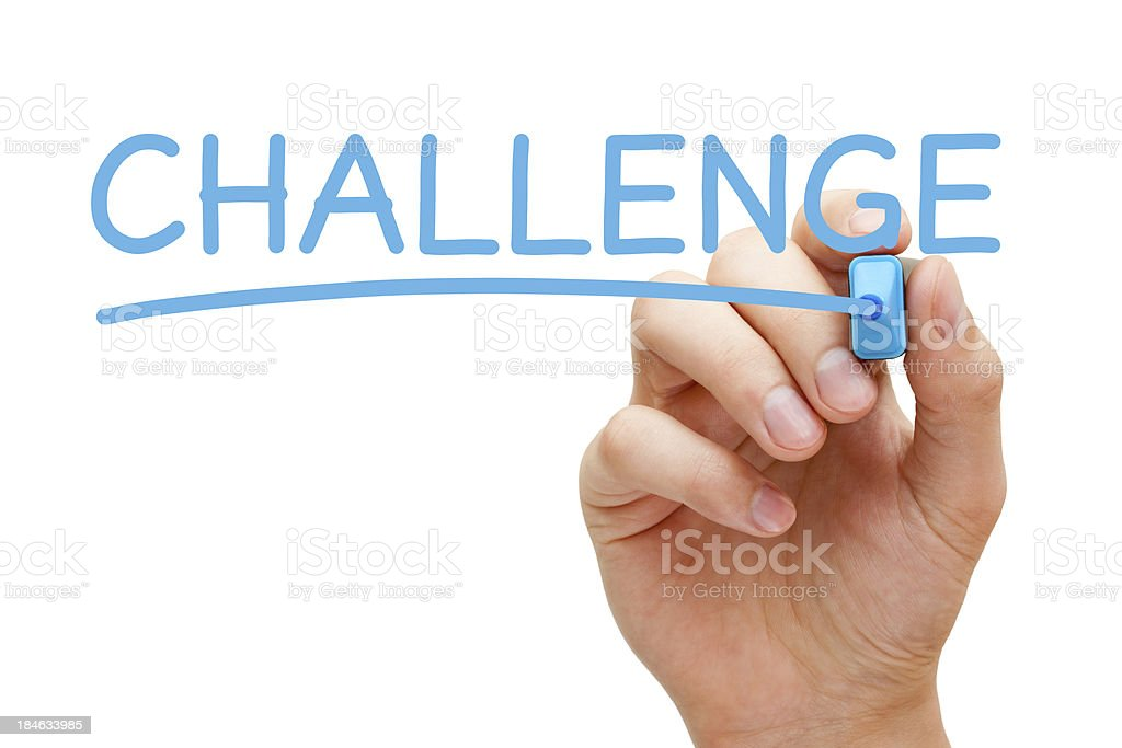 Challenge Blue Marker royalty-free stock photo