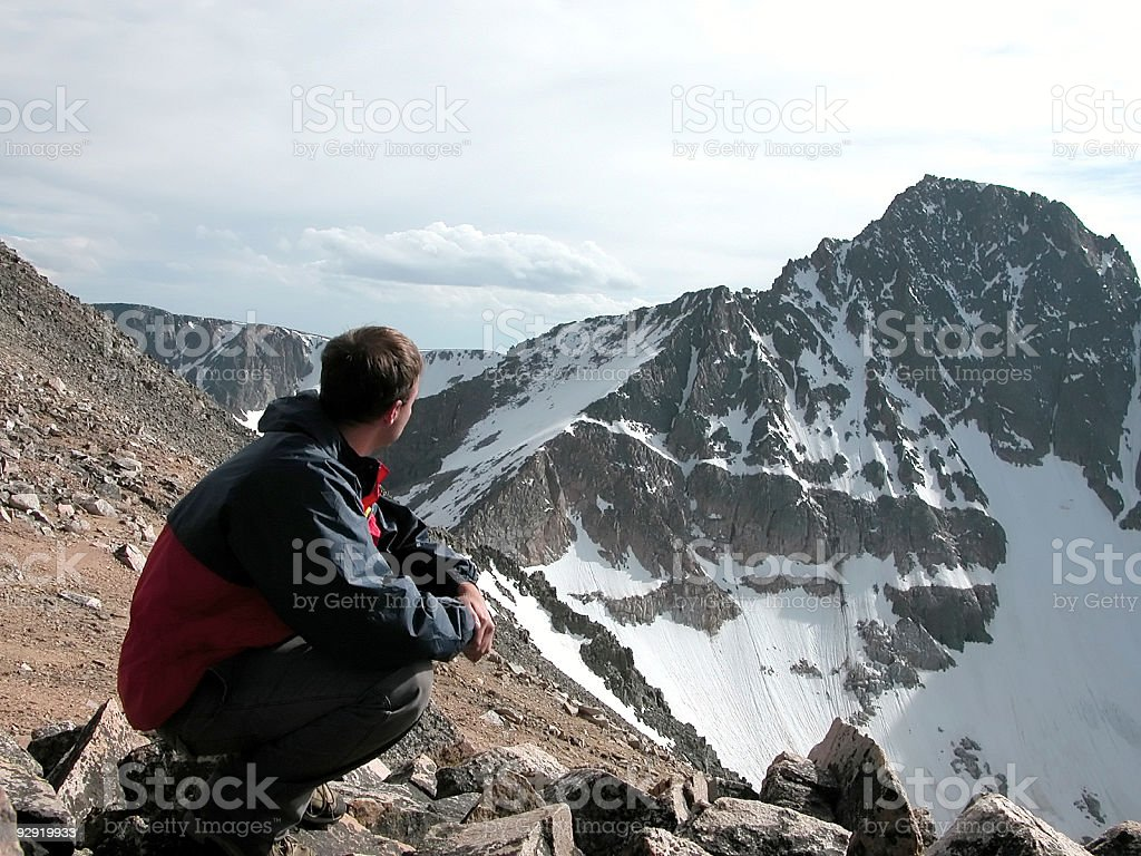 Challenge - Granite Peak, Montana stock photo