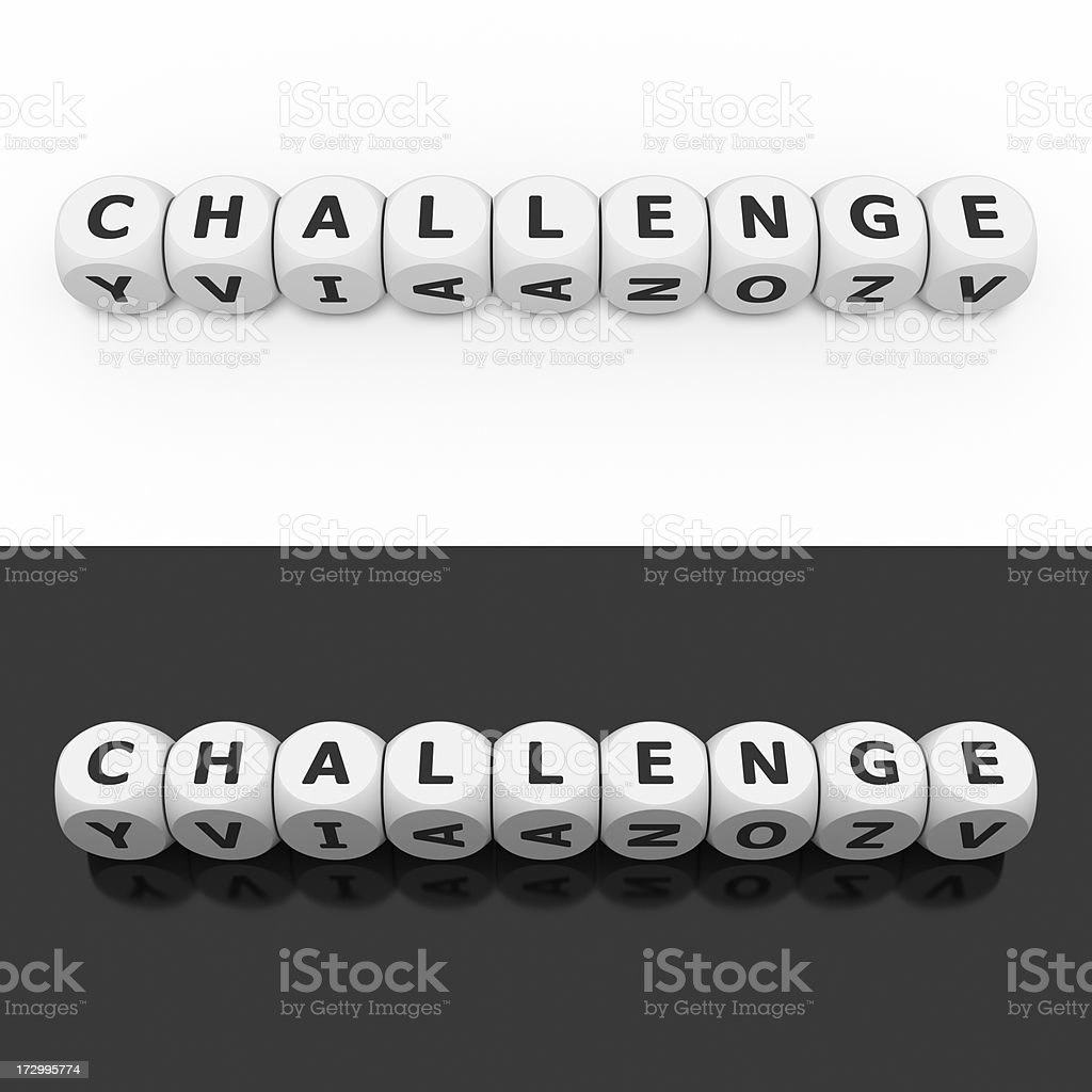 challenge on dices royalty-free stock photo
