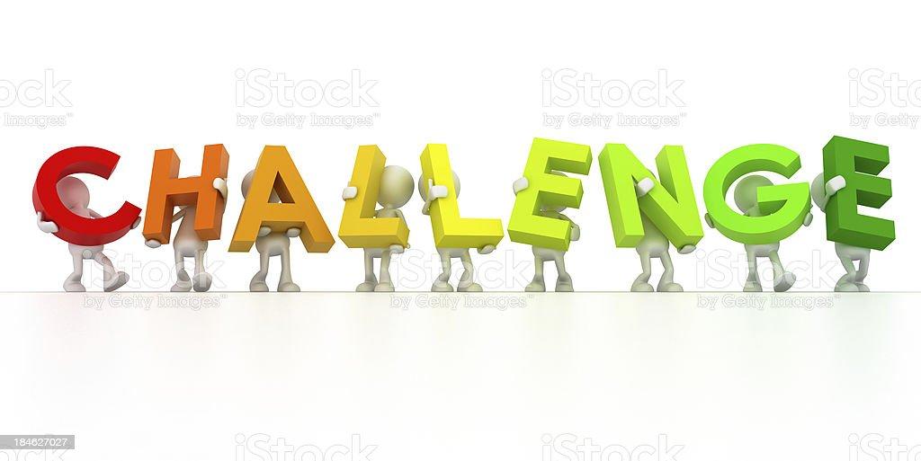 challenge team royalty-free stock photo