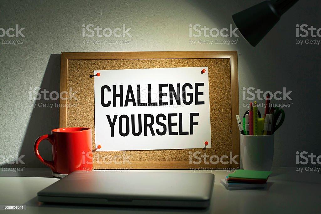 Challenge Yourself stock photo