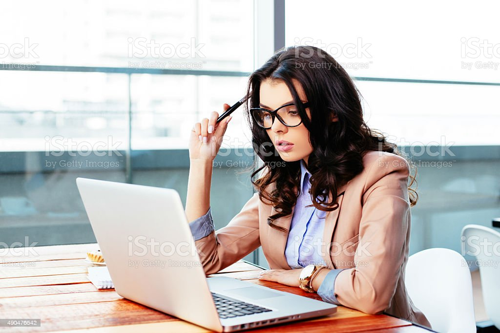 Challenged by online options stock photo