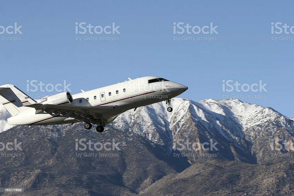 Challenger Jet Launching royalty-free stock photo