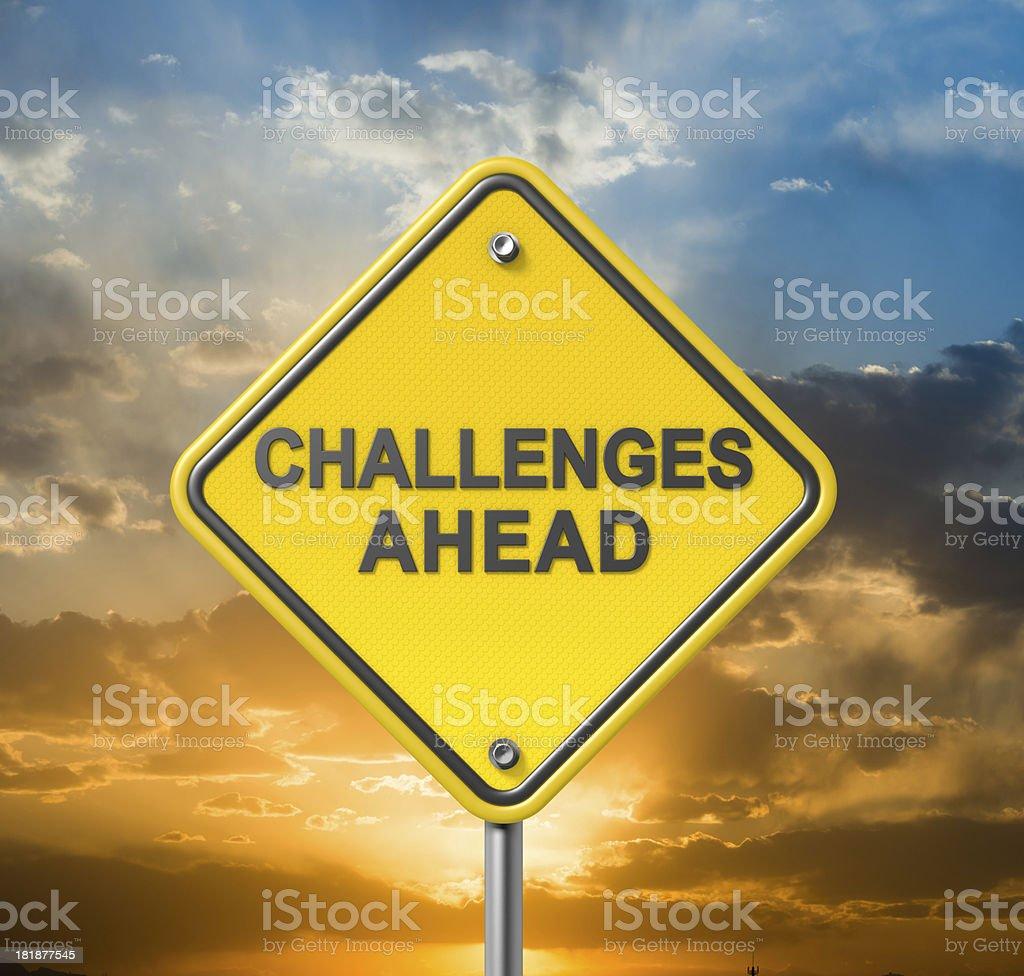 Challenges Ahead stock photo