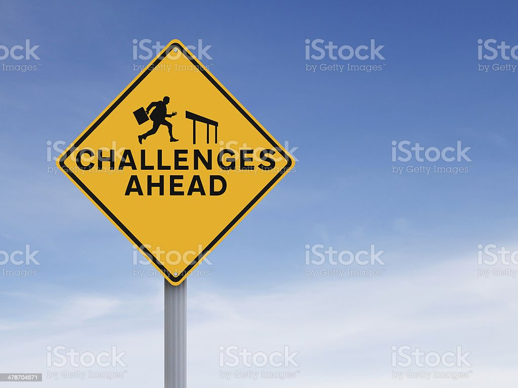 Challenges Ahead stock photo