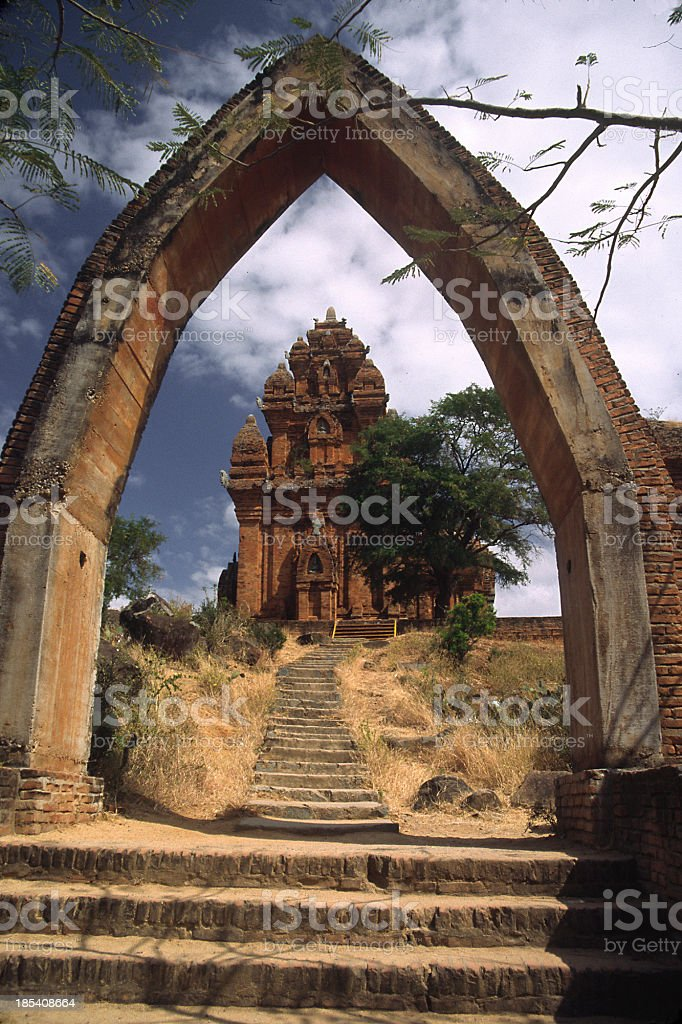 Cham Arch and Temple, Vietnam stock photo