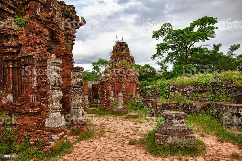 Cham ruins - Angkor style temples in Vietnam stock photo