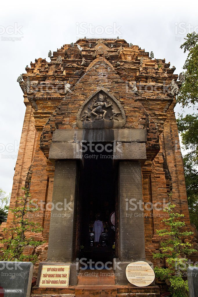 Cham temple (Po nagar), Landmark on Nha Trang, Vietnam. stock photo