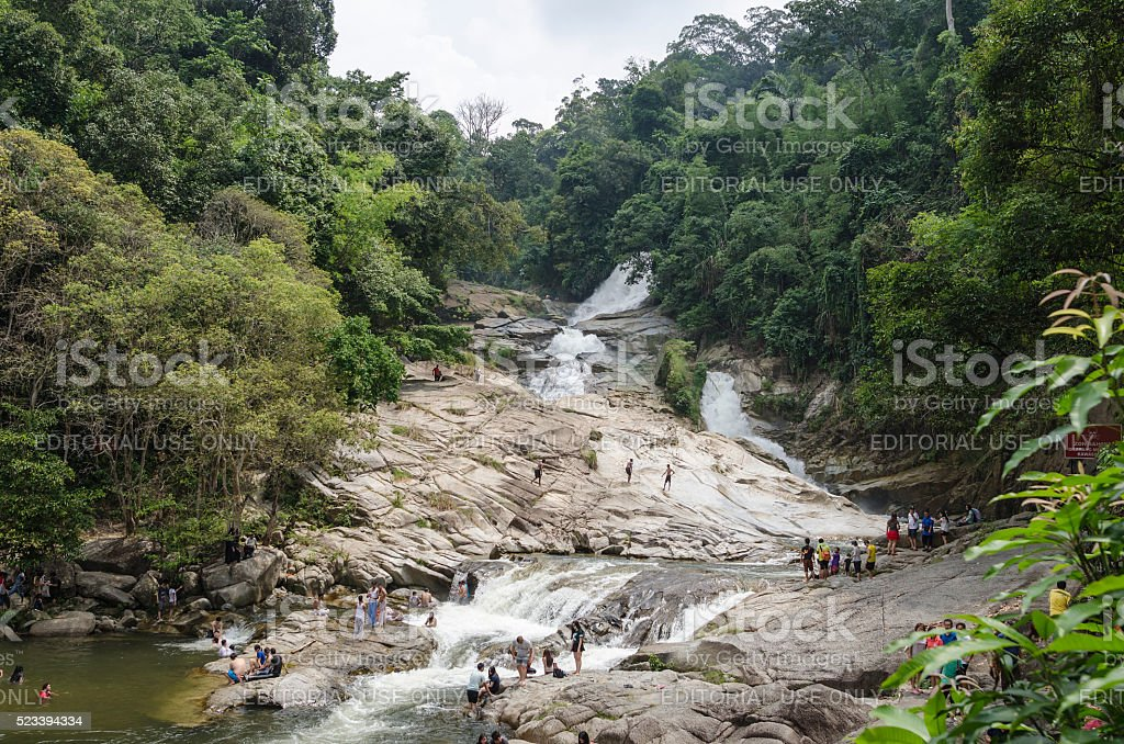 Chamang Waterfall, Bentong, Malaysia stock photo