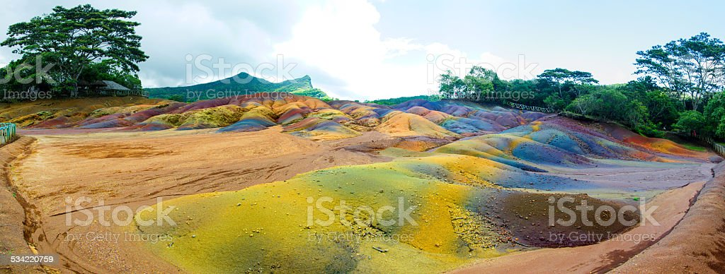 Chamarel colour earth royalty-free stock photo