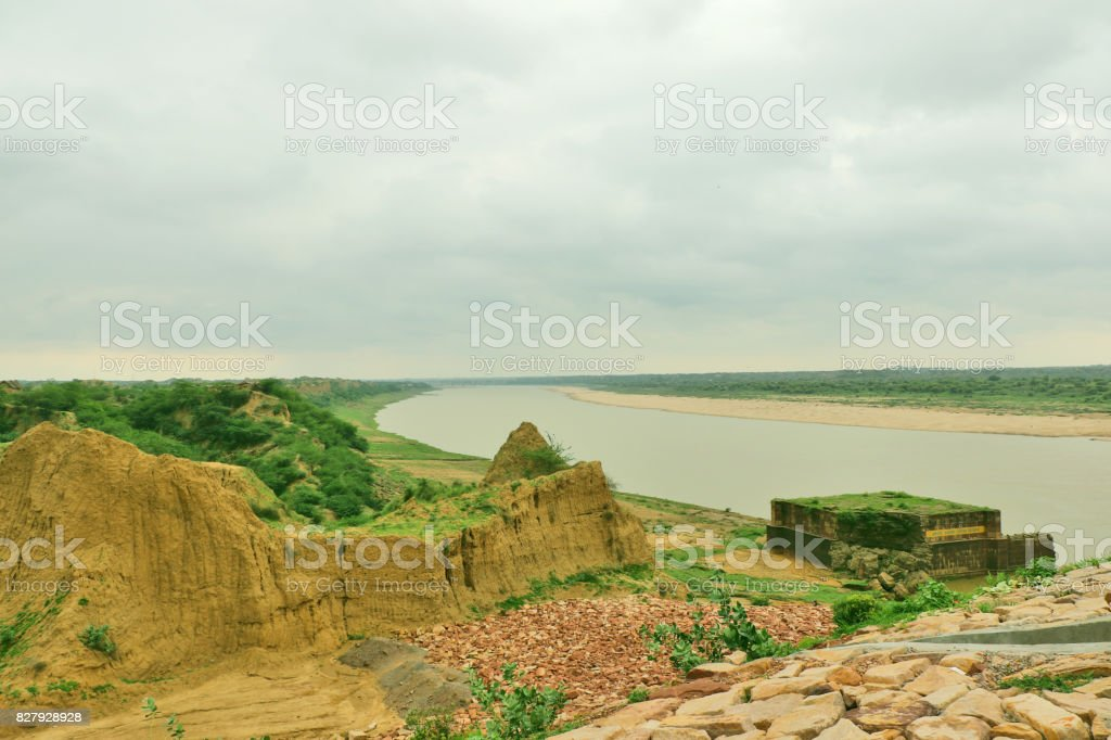 Chambal River, known as paradise of dacoits stock photo