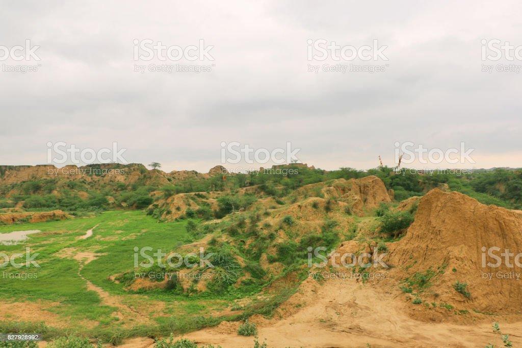 Chambal Valley, Morena stock photo