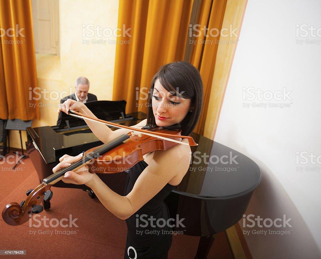 Chamber music stock photo