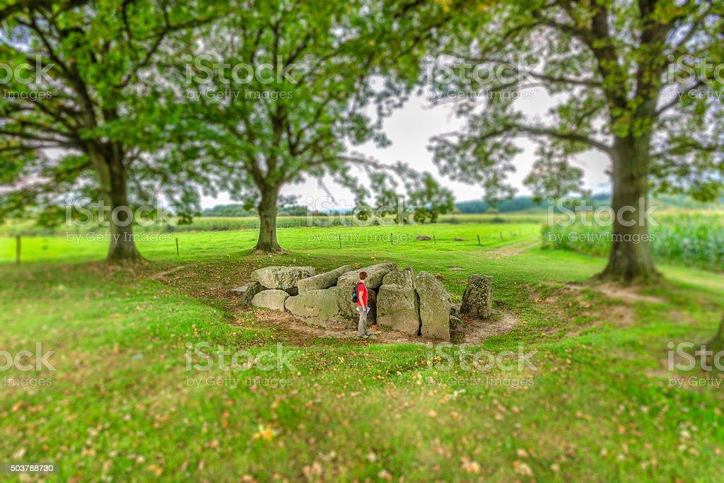 Chambered Tomb, Weris - Belgium stock photo