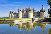 Chambord chateau panoramic from the canal