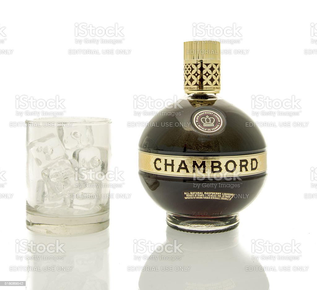 Chambord Liqueur stock photo