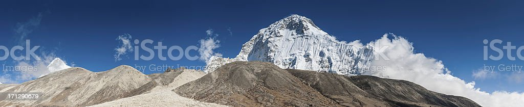 Chamlang 7319m above Hongu valley Himalayas Nepal stock photo