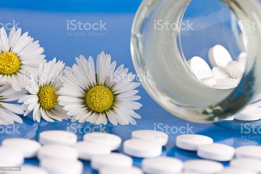 Chamomile and homeopathic medication royalty-free stock photo