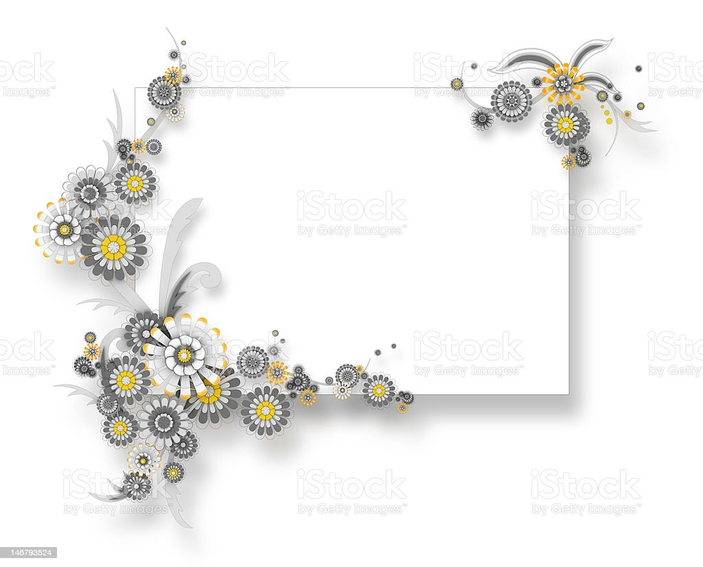 Chamomile banner teamplate royalty-free stock photo