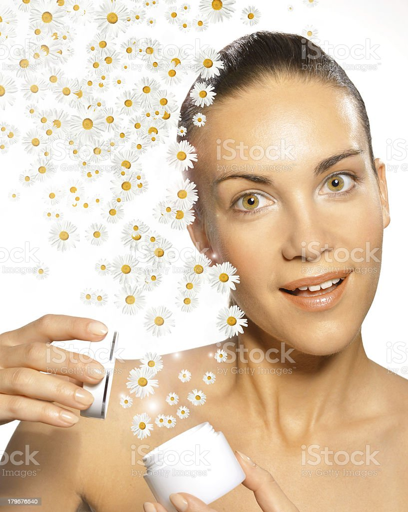 Chamomile cosmetic. royalty-free stock photo