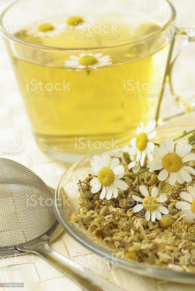 Chamomile tea stock photo