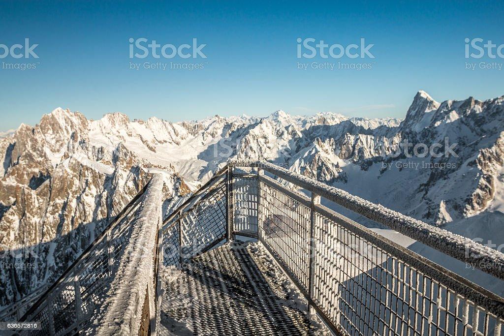 Chamonix in French Alps stock photo