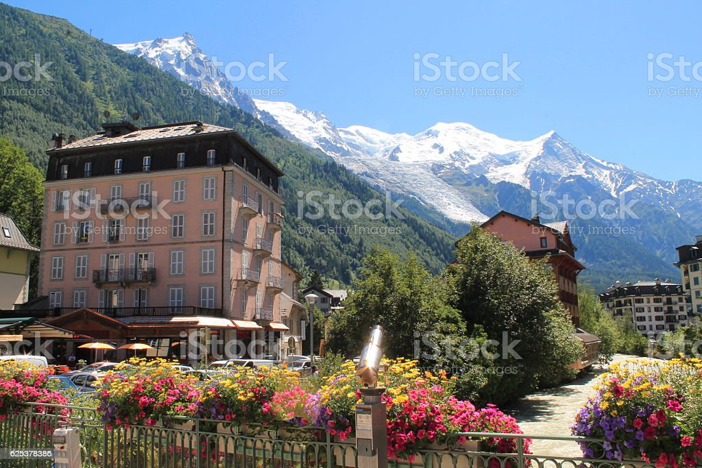 Chamonix, Mont Blanc in France stock photo