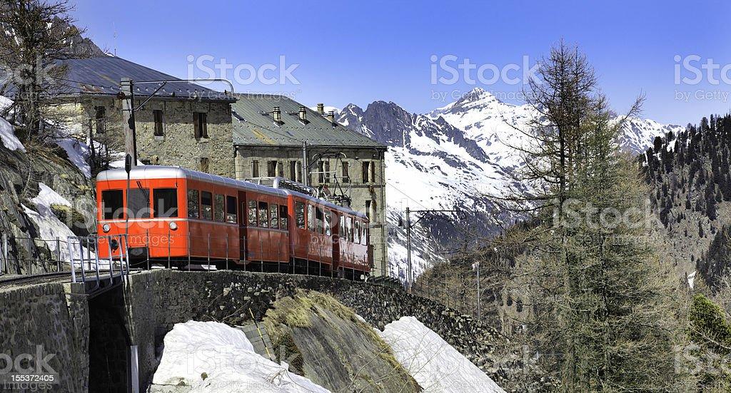 Chamonix - Montenvers train in french Alps stock photo