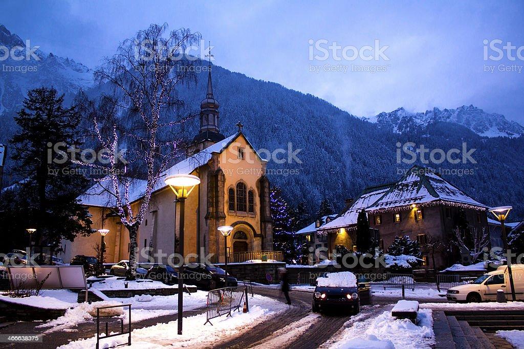 Chamonix town royalty-free stock photo