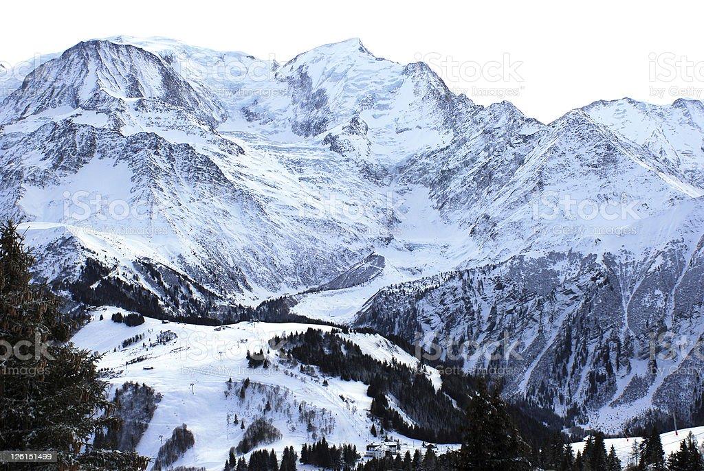 Chamonix Valley royalty-free stock photo