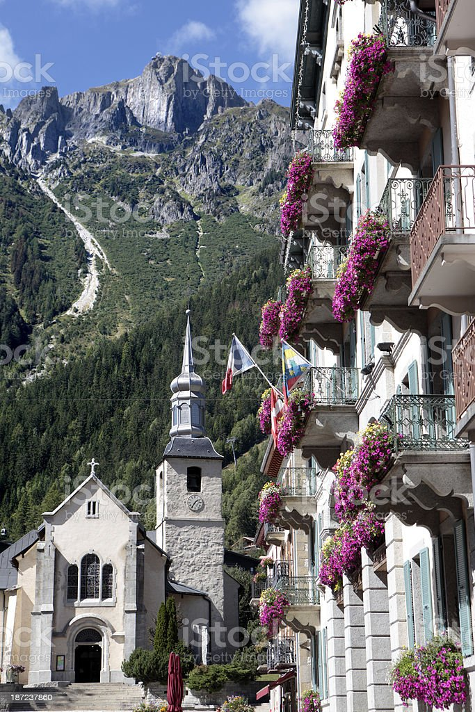 Chamonix village royalty-free stock photo