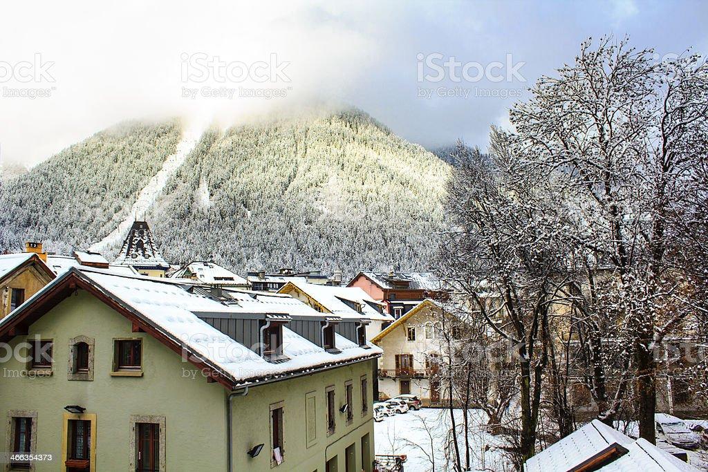 Chamonix-Mont-Blanc royalty-free stock photo