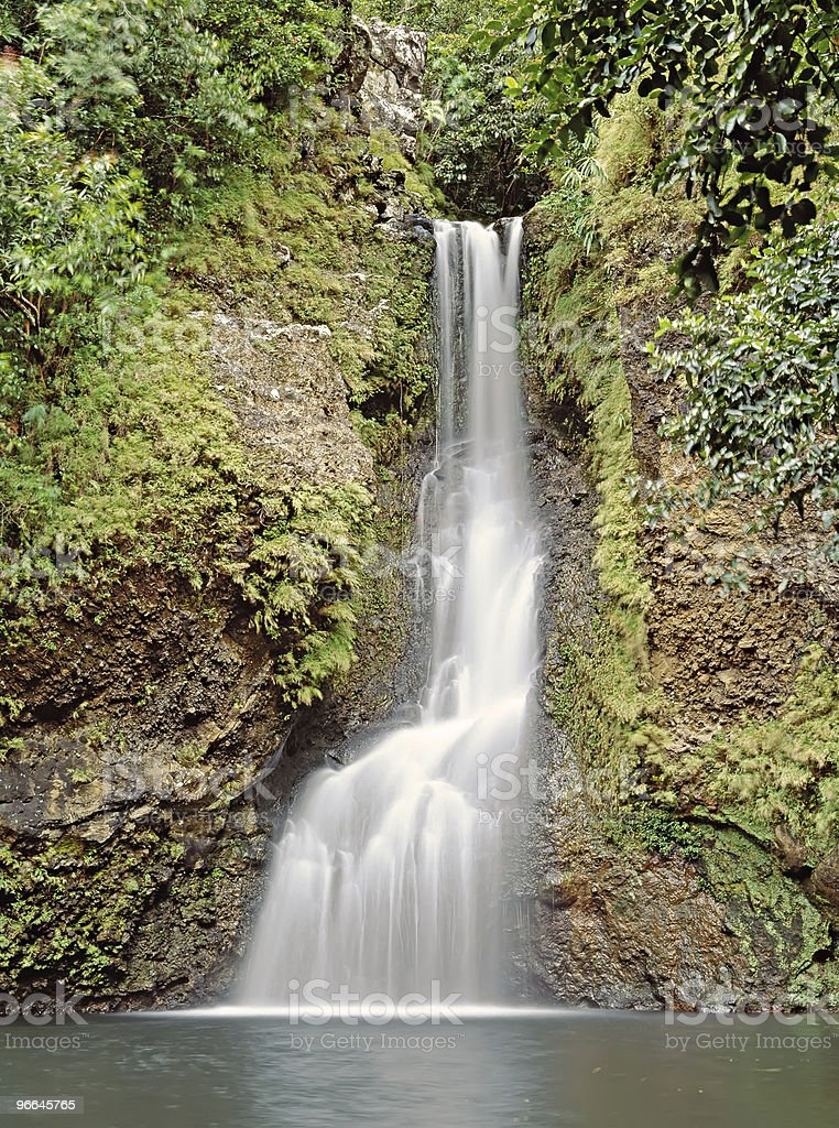 Chamouzer waterfall , Mauritius stock photo